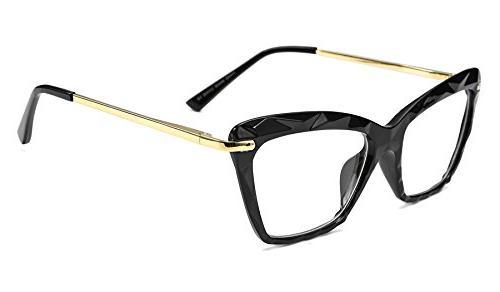 cat eye glasses frame crystal non prescription