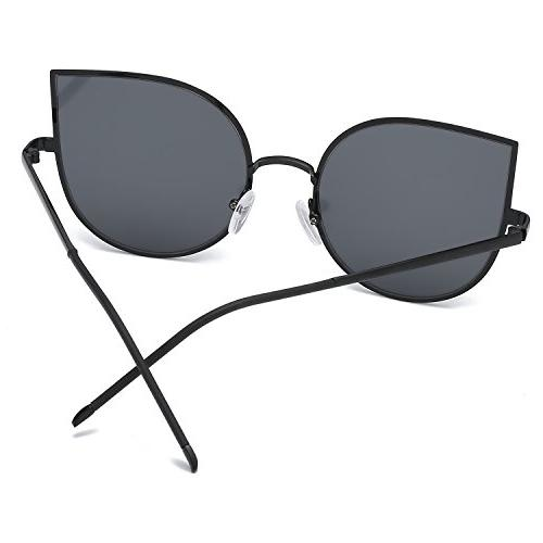 AMOMOMA Cat Flat Metal Frame Women Sunglasses AS1706