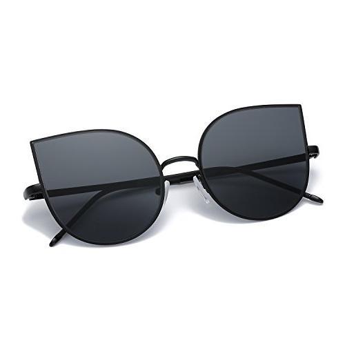 AMOMOMA Mirrored Flat Street Metal Sunglasses AS1706