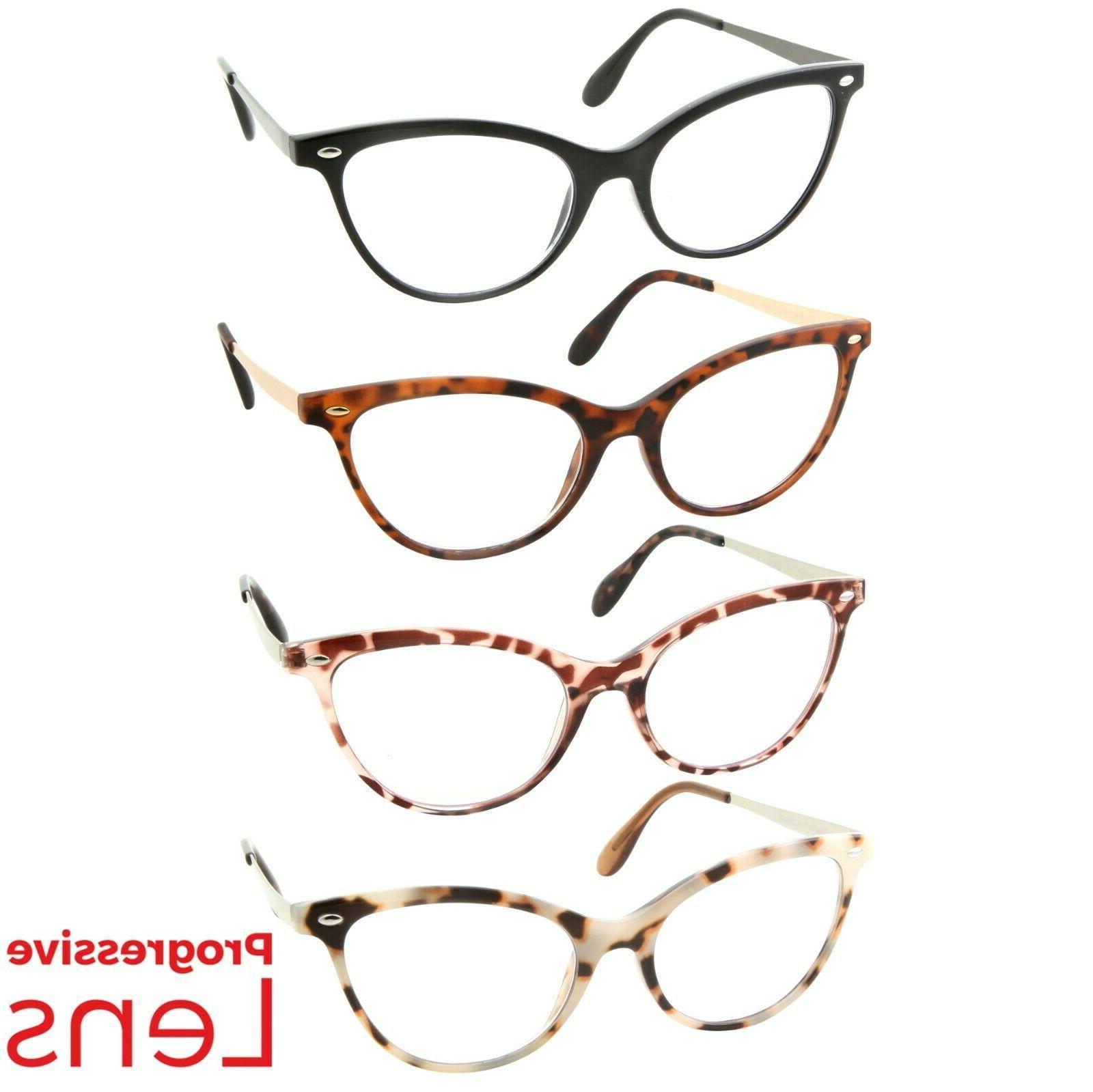 cat eye progressive reading glasses 3 strengths