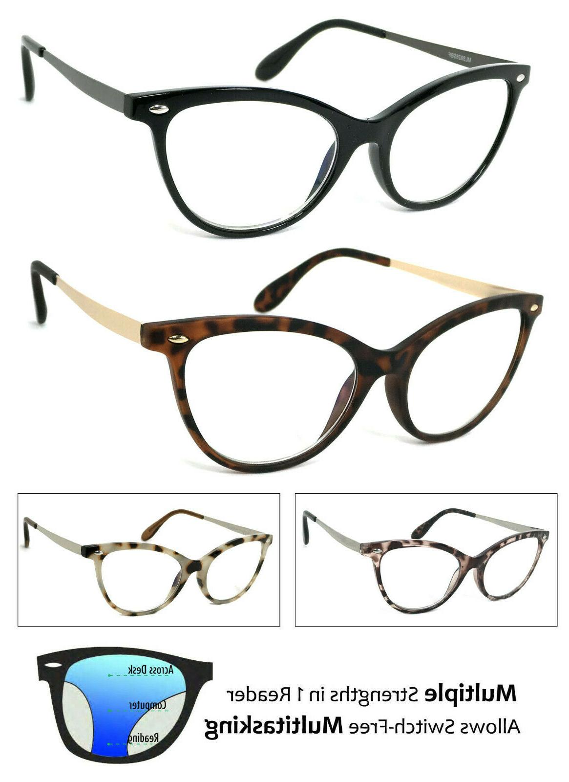cat eye progressive reading glasses 3 strengths
