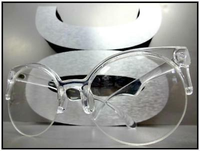 CLASSIC VINTAGE 50's Style Clear EYE GLASSES Round Frame