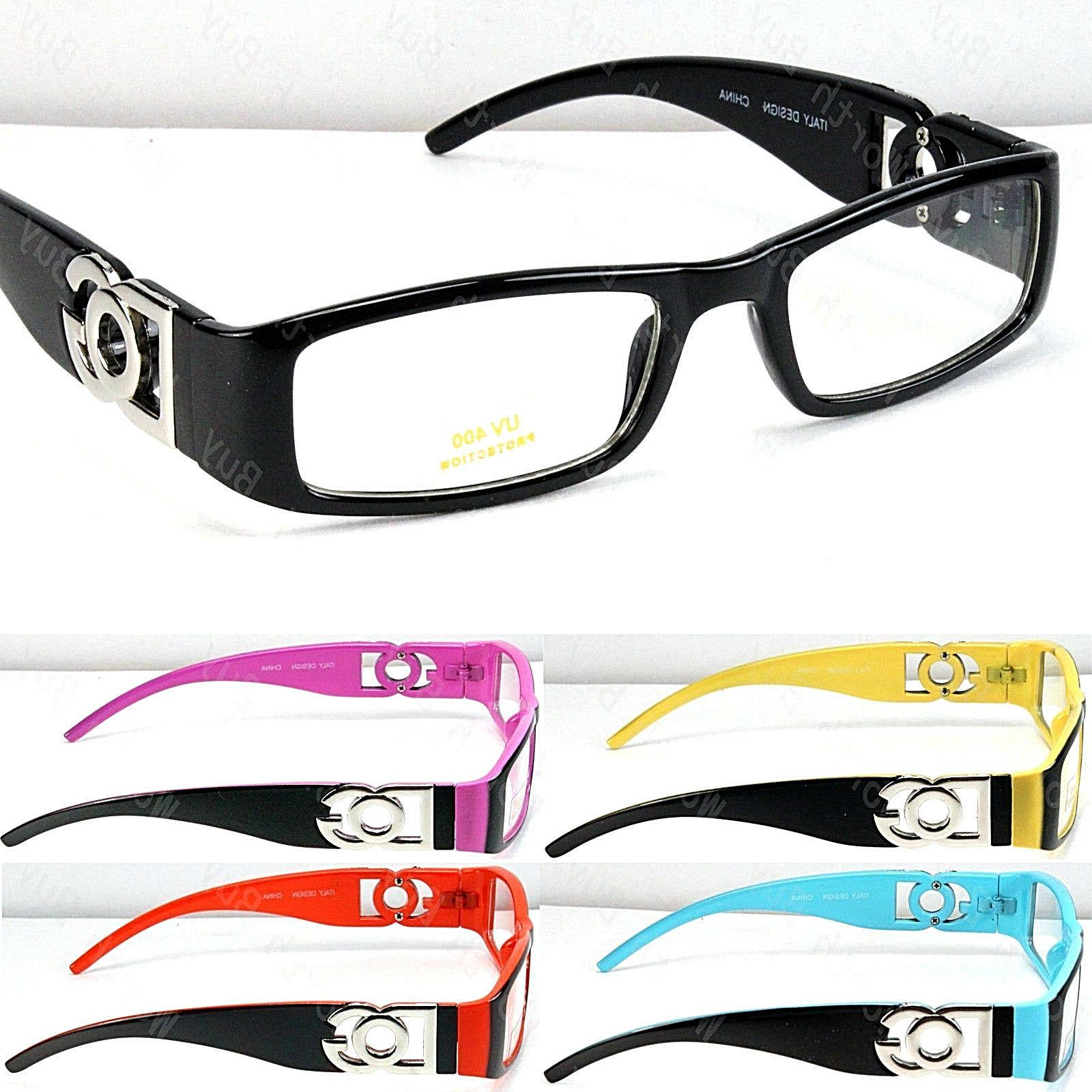 clear lens eye glasses fashion frame multi