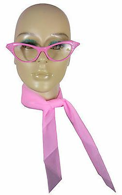 Costume Glasses & Scarf Kit 50s Costume Kit Chiffon Scarf Ca