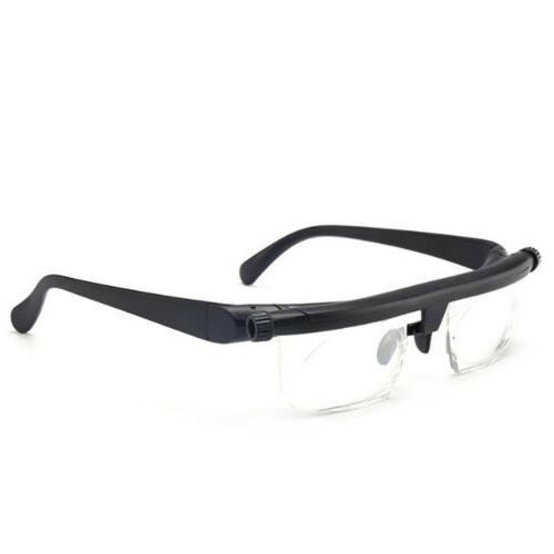 Dial Adjustable Glasses Variable Focus Reading Vision US