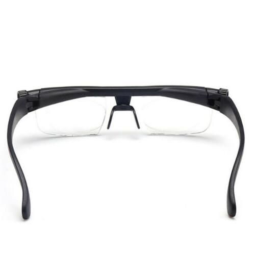 Dial Adjustable Focus For Reading Distance Vision Eyeglasses
