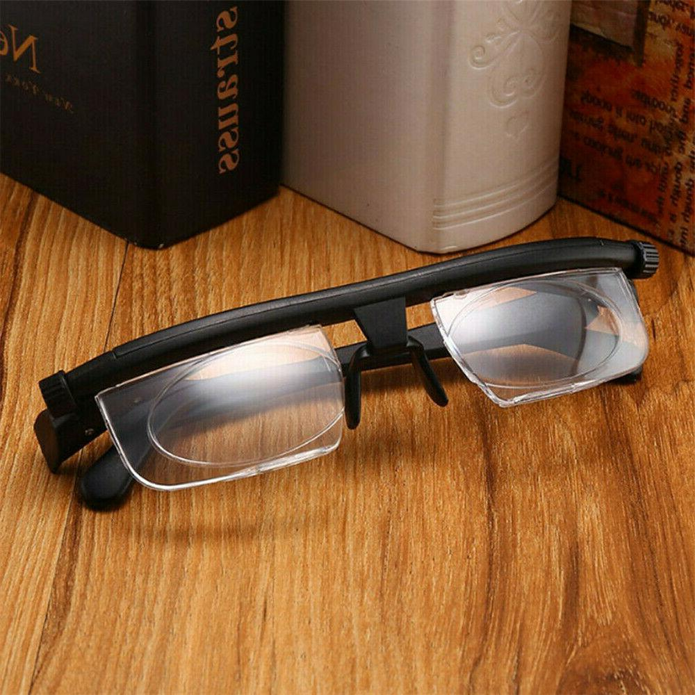 Dial Adjustable Glasses Variable Focus For Reading Vision Eyeglasses