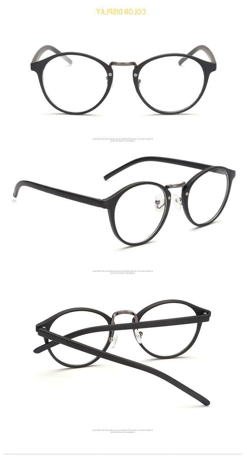 Eye Glasses Men Women Retro Round Ultra Light Myopia Frame