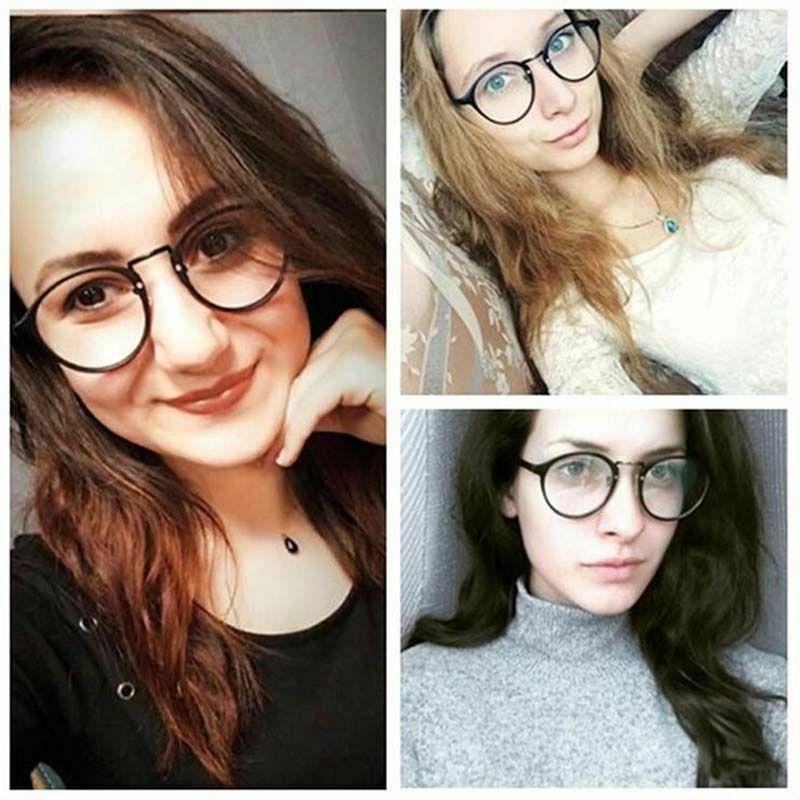 Eye Glasses Men Women Retro Ultra Myopia Plastic