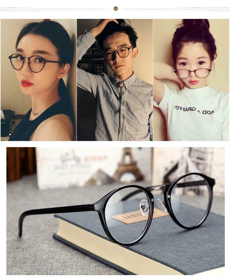 Eye Glasses Women Retro Round Ultra Myopia Frame
