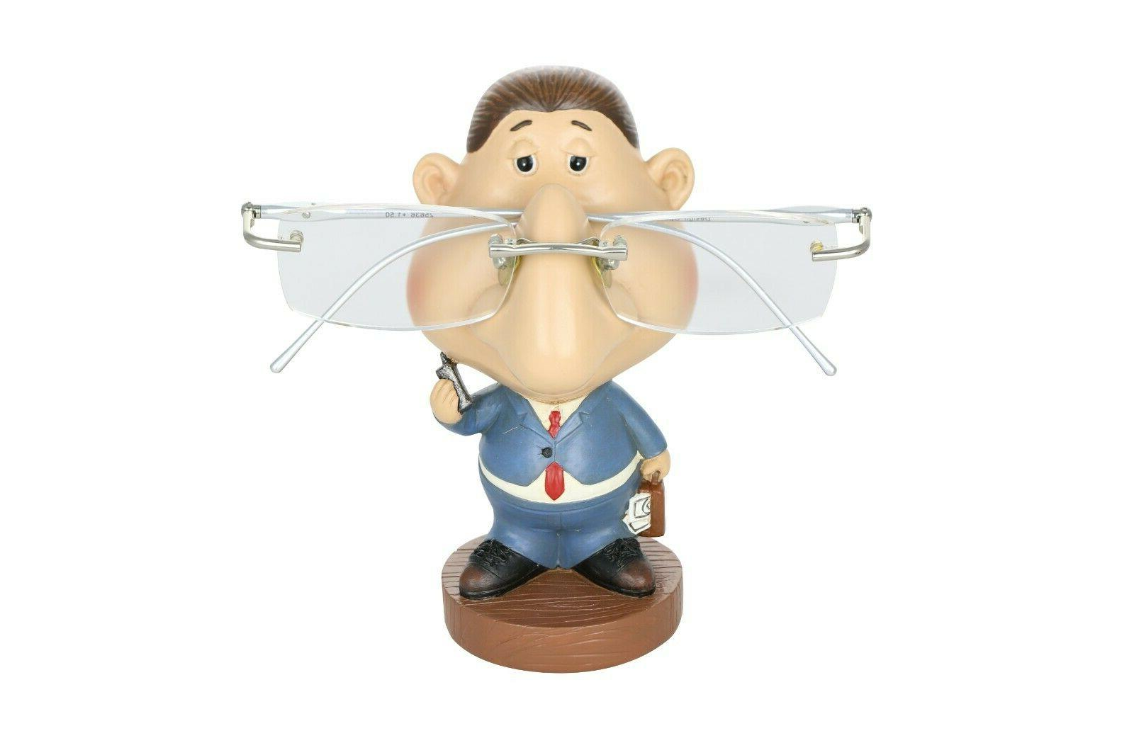 "Eyeglass Holder 5"" Business Man Whimsical Figurine Home De"