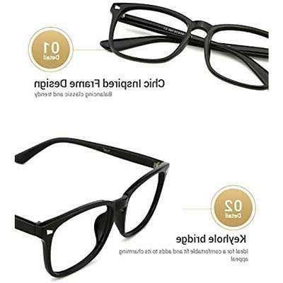 TIJN Frames Blue Light Glasses Nerd
