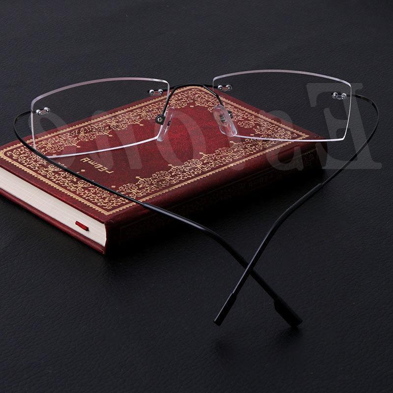 Fashion Metal Rimless <font><b>Eye</b></font> <font><b>Glasses</b></font> Frames <font><b>Reading</b></font> Men