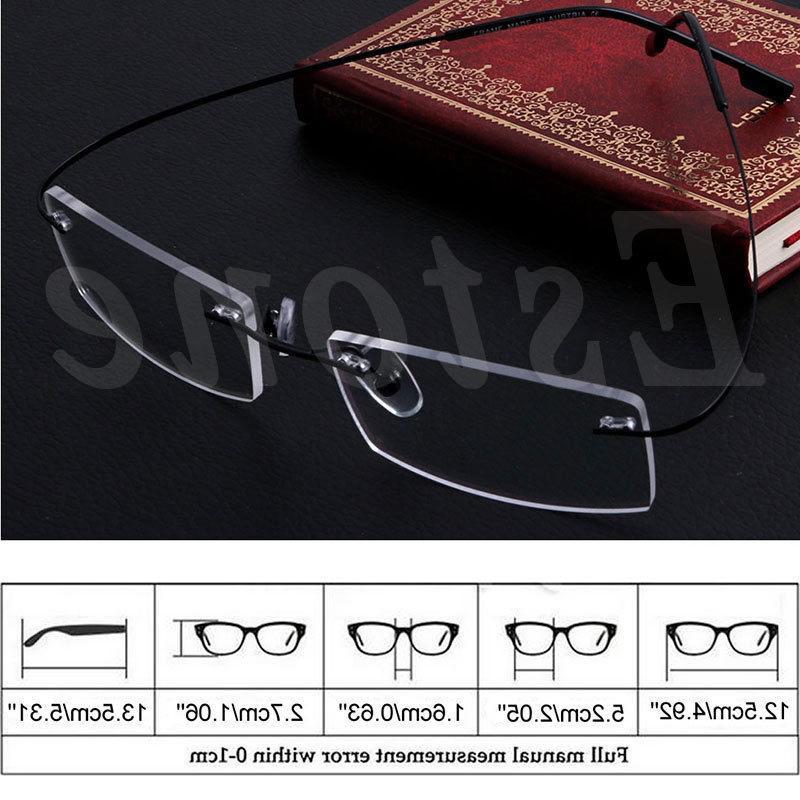 Fashion Metal Rimless <font><b>Glasses</b></font> Solid Spectacle Frames <font><b>Reading</b></font> <font><b>glasses</b></font> For Men Unsex