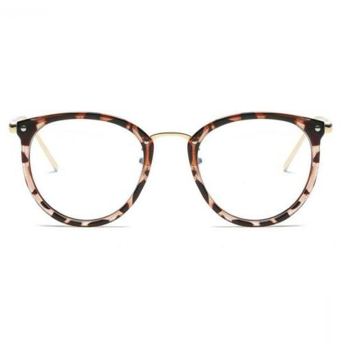 Amomoma Fashion Round Eyewear Frame Eyeglasses Lens