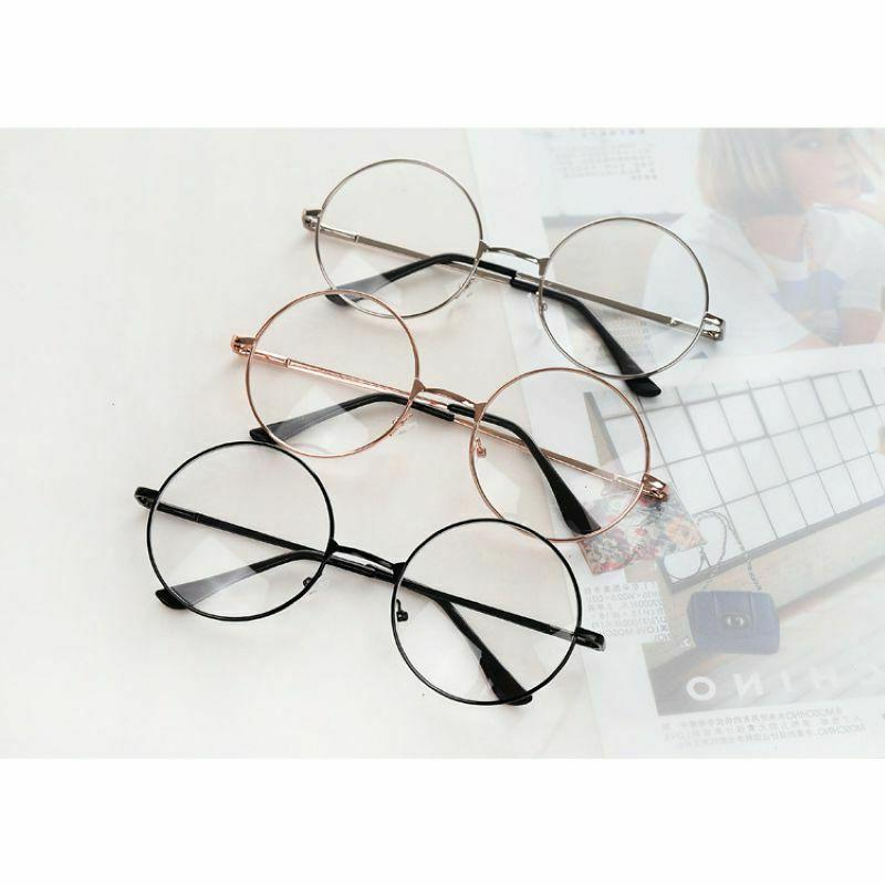 Fashion Retro Frame Lens Glasses Large US