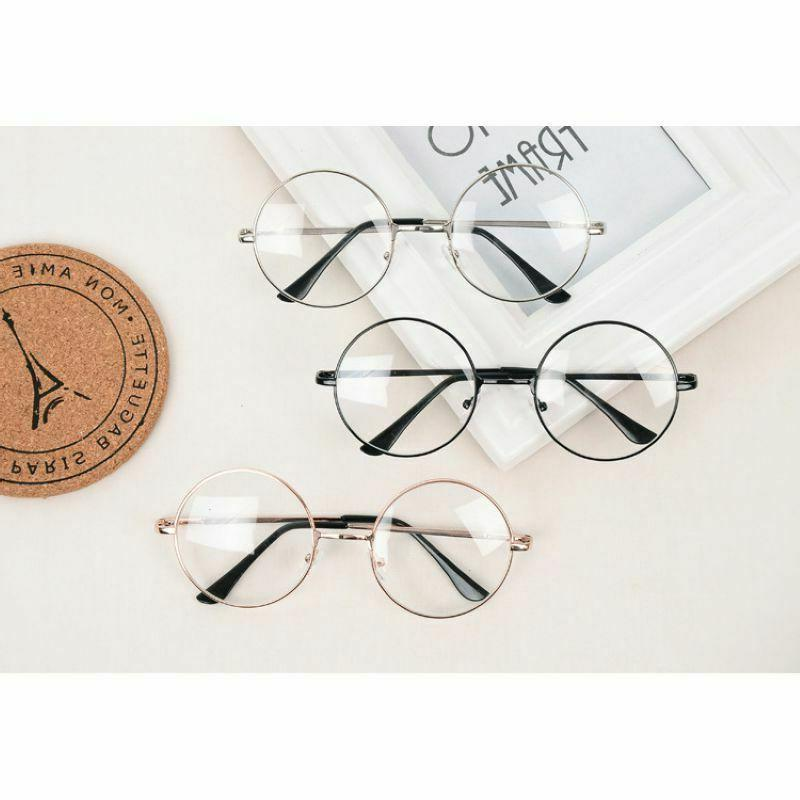 Fashion Round Frame Clear Eye Glasses Large Circle