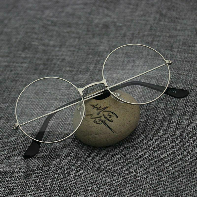 Fashion Retro Metal Frame Clear Lens Eye Glasses Large Oversized US