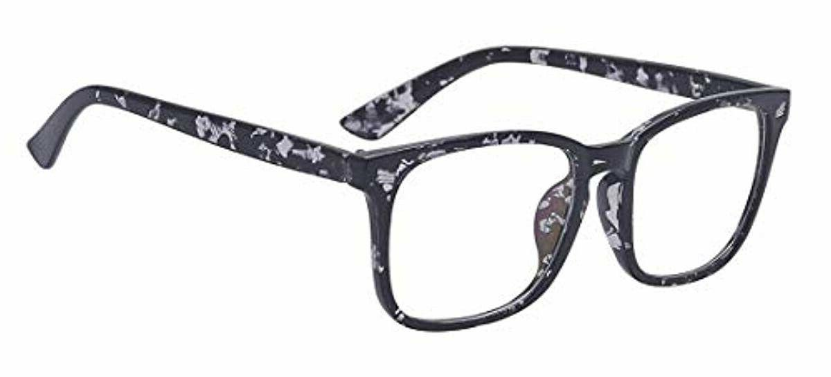 fashion square non prescription eyeglasses clear lens