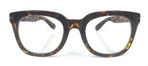 Ford Style Square Large Thick Frame Lenses Eyeglasses