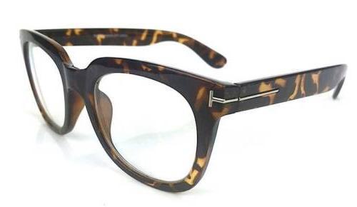 Ford Square Rectangular Large Thick Lenses Eyeglasses