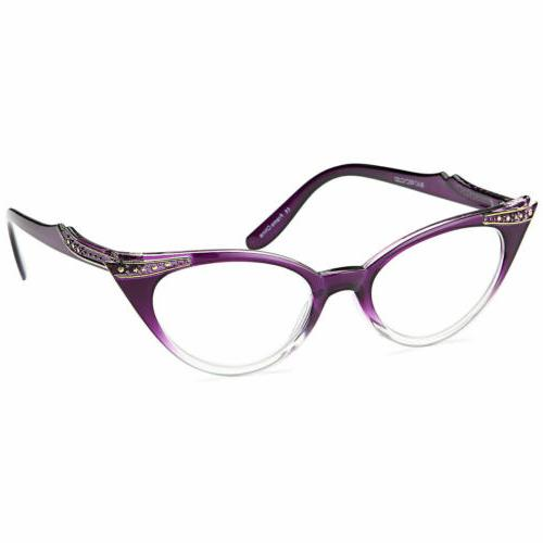 GAMMA Pairs Women Cat Reading Glasses w/ Magnification