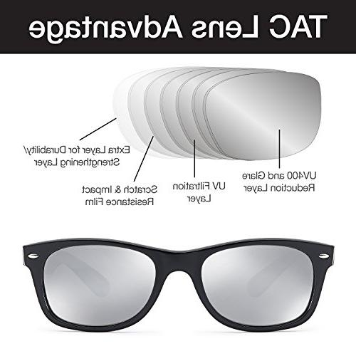 GAMMA RAY Sunglasses - Mirror Orange Lens on Matte Black