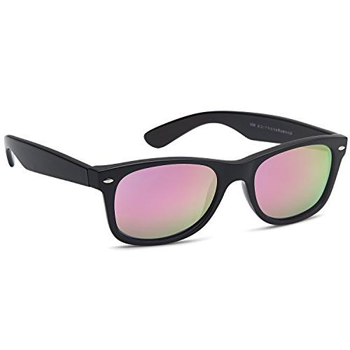 gamma ray polarized uv400 sunglasses small mirror