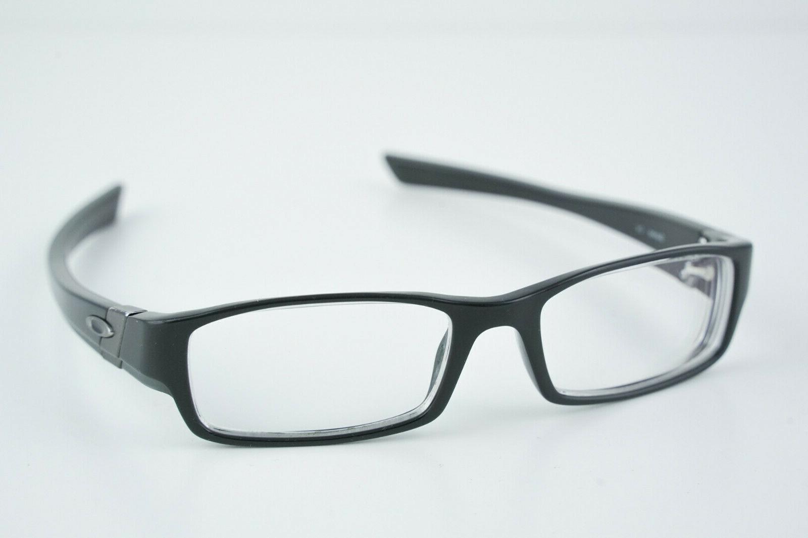 gasket polished black eye glasses 53 18
