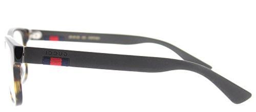 Gucci 0176O 002 Havana Rectangle Eyeglasses 56mm