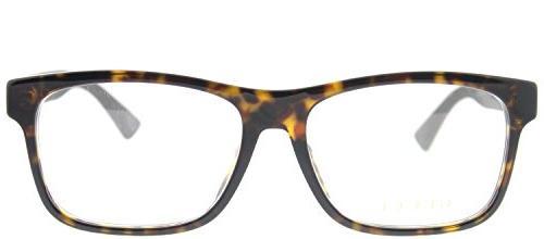 Gucci Havana Plastic Eyeglasses 56mm