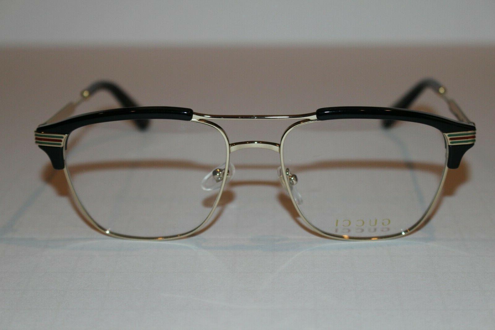 gg0241o 002 eyeglass frames black metal 54