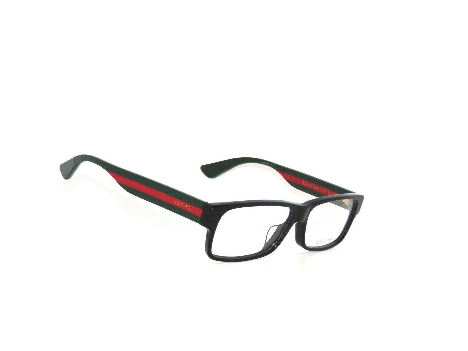 gg0344oa eyeglasses 001 black multicolor 56 mm