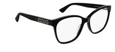 Gucci SQUARE BLACK LENS 55 Women's