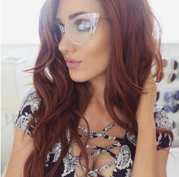 GLASSES Vintage Retro Women Eyeglasses Full