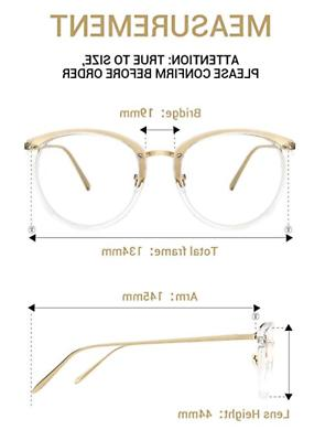 TIJN Gold Glasses|Round Non-prescription Eyeglass...