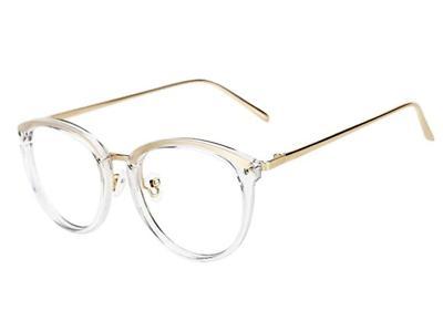 TIJN Gold Fade Glasses|Round Eyeglass...