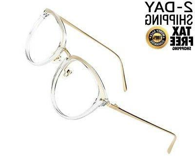 gold fade block glasses round optical eyewear