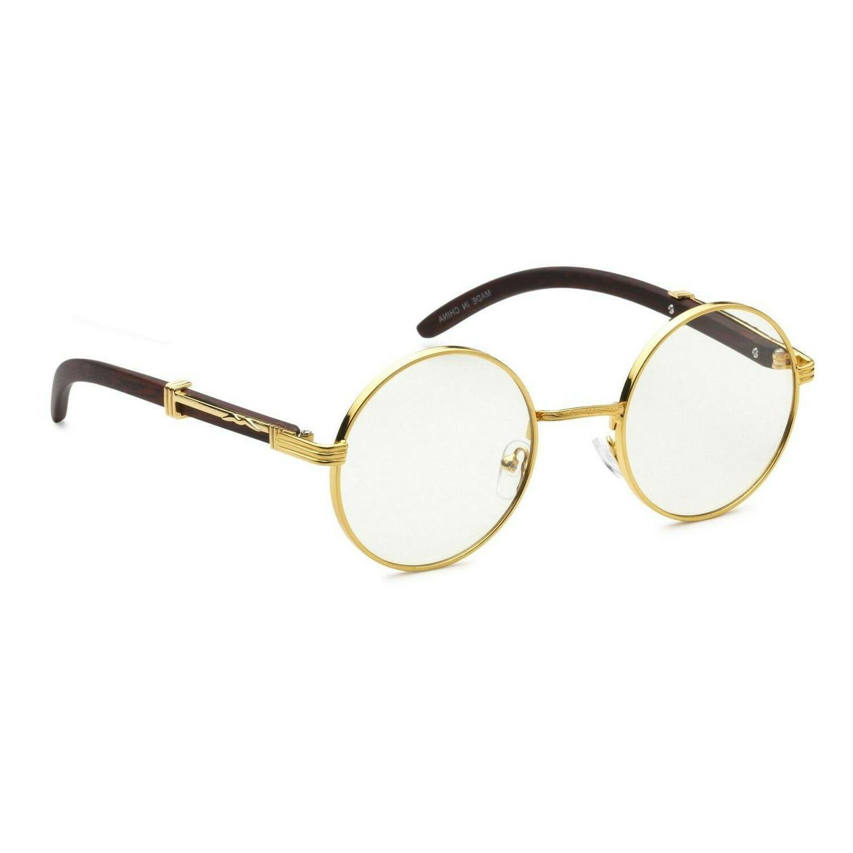 gold round metal frames vintage retro eye