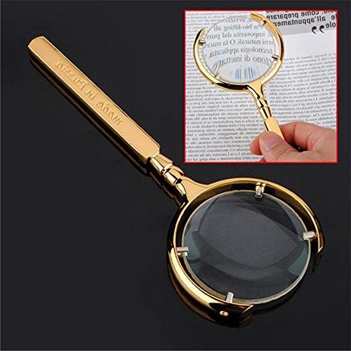 golden reading jeweller magnifying opitacl eye glass