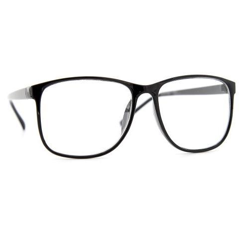 grinderPUNCH Black Nerdy Thin Plastic Lens Eye Frame