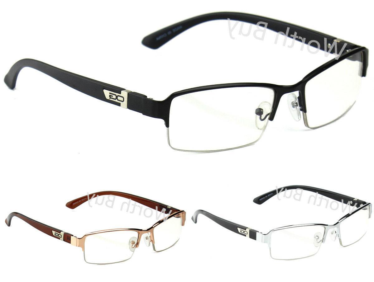 Half Rim Men Frame Glasses Designer Fashion
