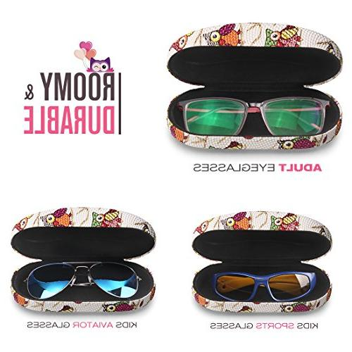 Hard Shell Eyeglasses for Kids Women, Cute
