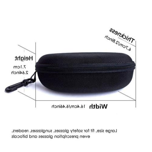 Hard Sunglasses Eye Case Box With Clip Travel Safety Big