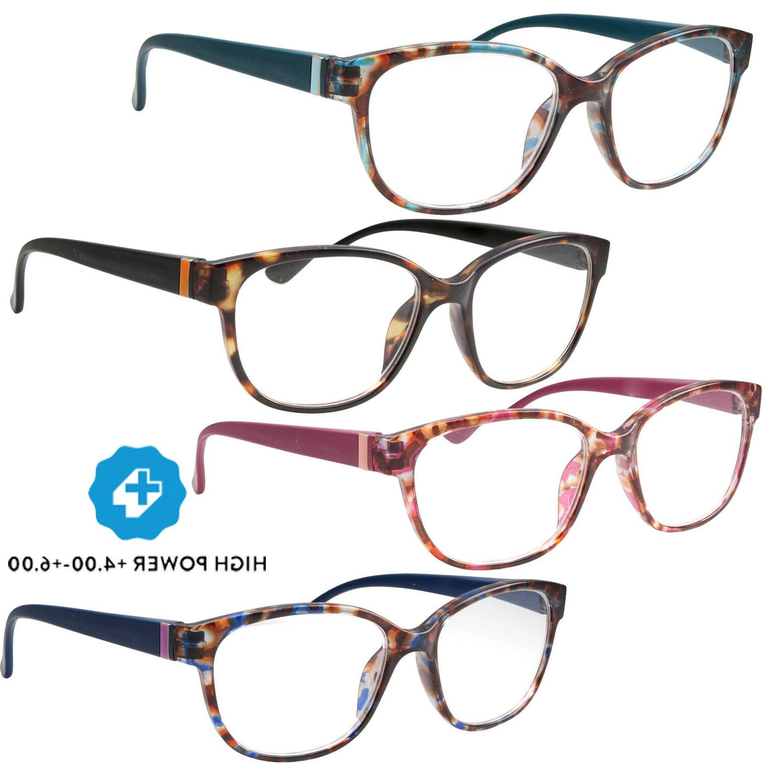 high power strong magnification reading glasses womens