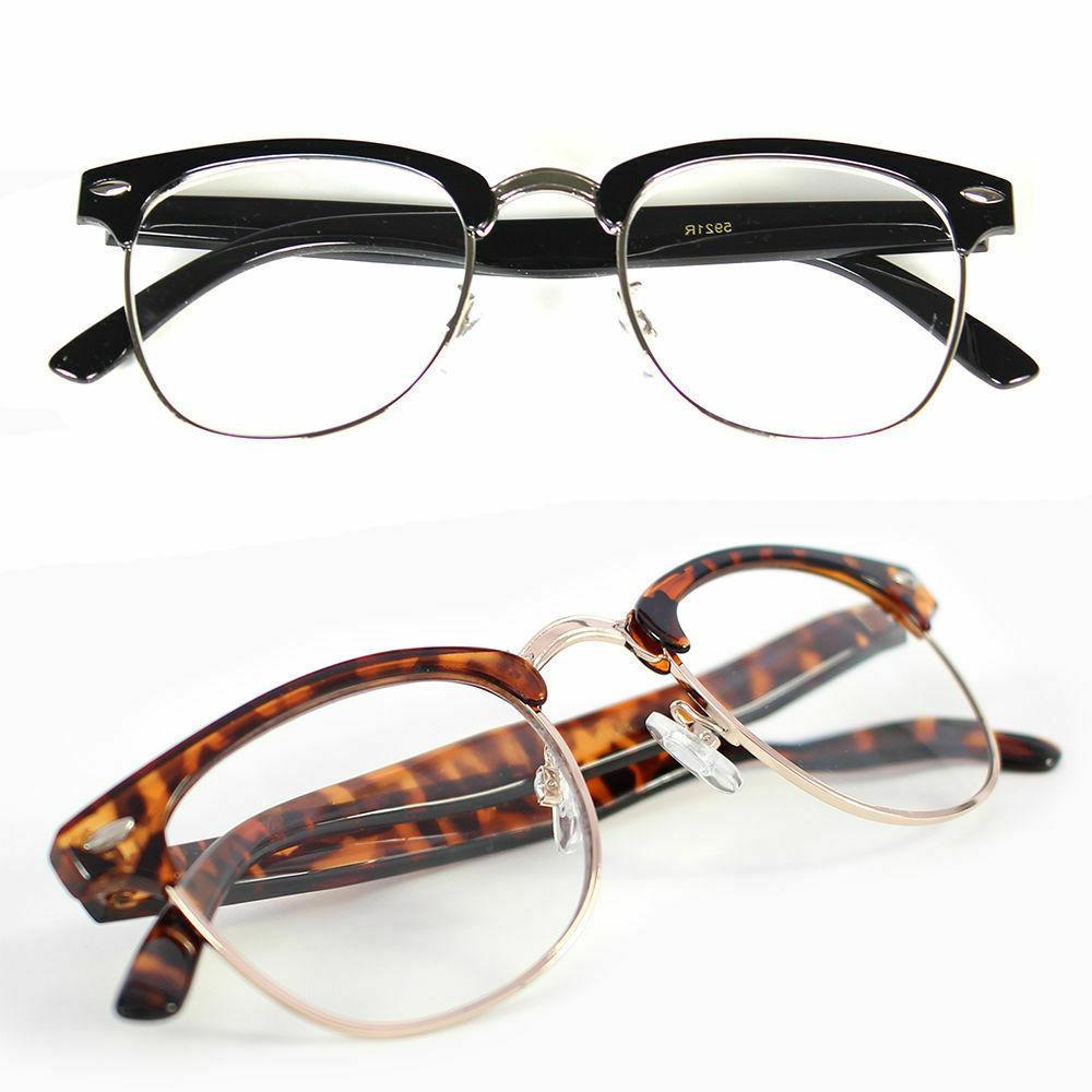 Interview Smart Glasses Fake Vintage Nerd Geek Retro