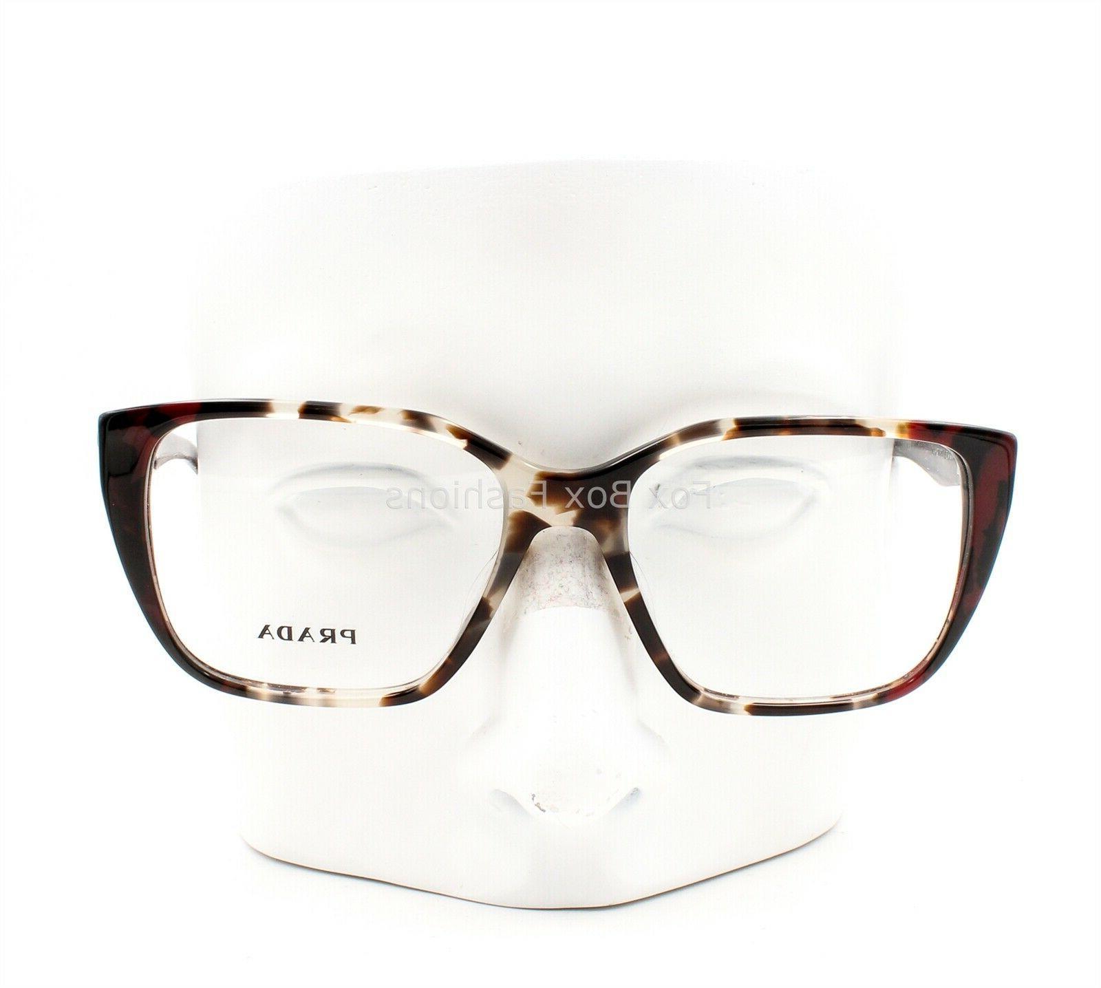 Prada Journal VPR 08T U6K-1O1 Eyeglasses Glasses Opal Brown