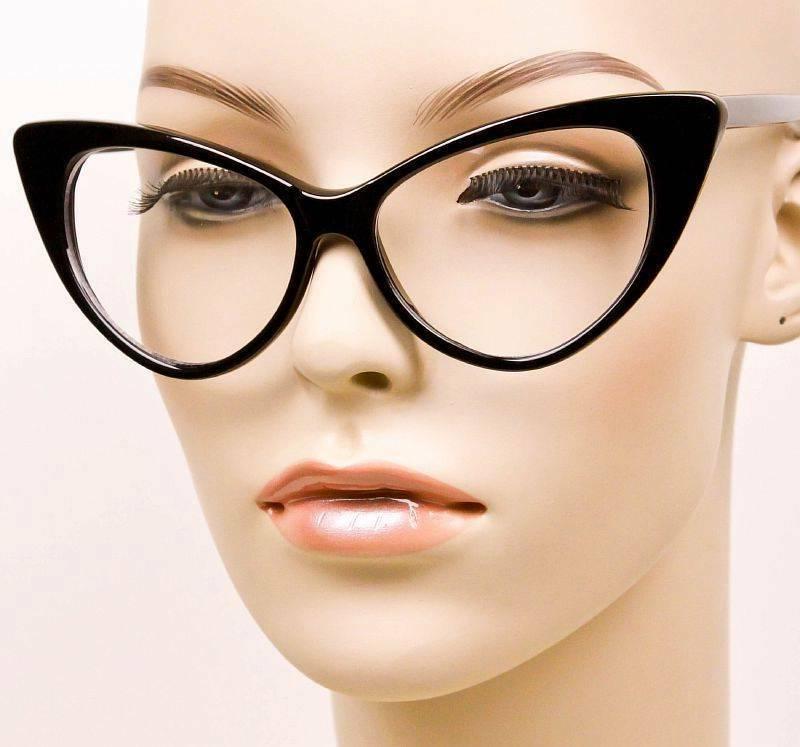 Large Cat Nikita Sexy Lens Glasses LUX Frames L