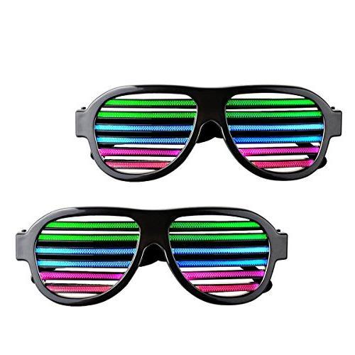 light glasses sound music flashing