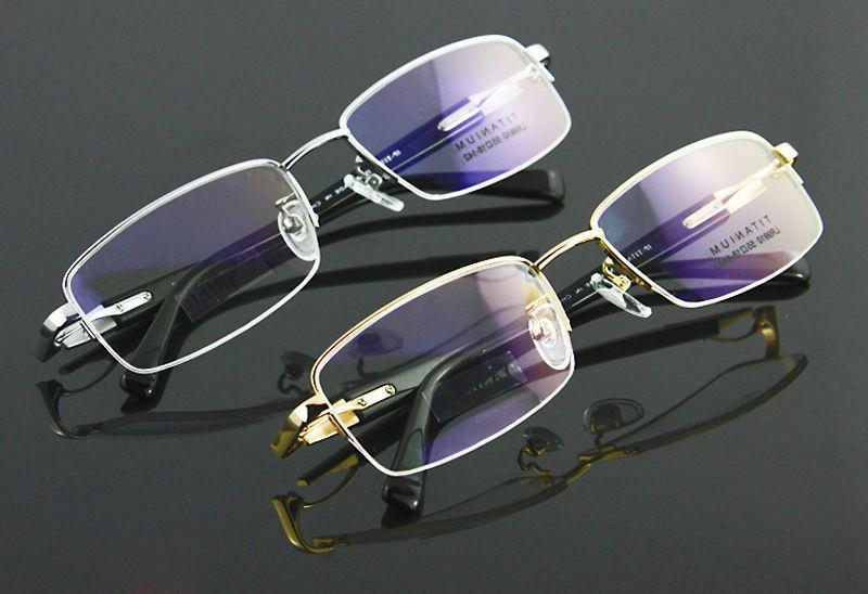 luxury pure titanium spectacles men glasses optical